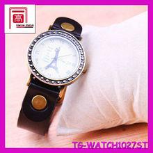 Hot Sale Fashion Women Leather Watch battery in wrist watch