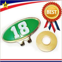 custom golf hat clip/ metal hat clip/ golf ball marker