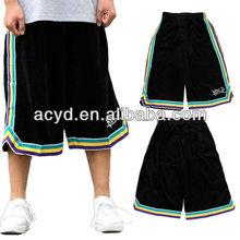 Fashion dance shorts in plus-size streetball basketball man short