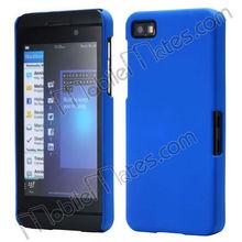 Wholesale Pure Color Rubber Plastic Hard Case For Blackberry Z10(Blue)
