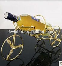 Gold Metal Wedding Champagne Bottle Holder