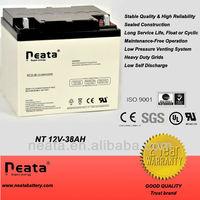 Telecom part battery 12v38ah,solar rechargeable battery