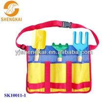 4pcs colourful kids garden tools with plastic material wood handle