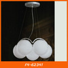 Modern ceiling lights, white glass rounded chandelier F4-62341