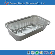 Disposable aluminum foil container for food packing