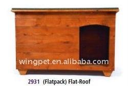 flatpack dog wooden kennel