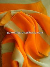 [imitation silk fabric factory] 50D*75D polyester printed satin chiffon fabric/ satin faced chiffon fabric