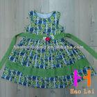 kid clothing girl cotton dress sleeveless allover flower print