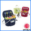 Outdoor Bold Collapsible Insulated Picnic Basket for 4 persons, lightweight cooler bags