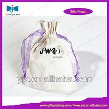 cheap cotton linen drawstring bag for cosmetics