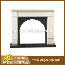 yellow sandstone fireplace/stove
