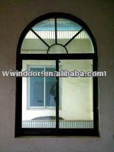 aluminum window and door with arch