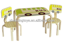 Historieta de madera Tabla de autobuses y una silla para niños / tabla de la historieta linda y Presidente
