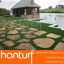 landscape artificial grass lawn for stone pathway