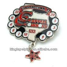 SM-ML029 Custom dangler lapel pins with glitter