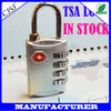 4 digits TSA custom combination padlock/tsa approved padlocks