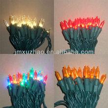 UL 120V 50L 5M Full Wave Green Wire 3mm LED Mini Ligths Multicolor Christmas Lights