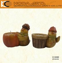 "4"" Ceramic Bird Figurine Ceramic Tealight Holder"