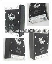 high quality beautiful design grand logo white dots black gift box,black packaging box,black paper box