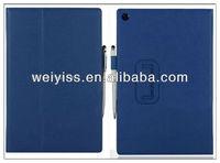WY-TA-052 Leather Case For Sony Xperia Tablet Z Dark Blue