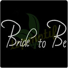 Custom Design Wedding Dress Bride To Be Rhinestone Motif