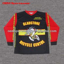 Dyed sublimation custom cycling bike BMX racing jersey