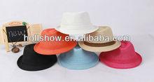 2013 Summer Plain Paper Children Straw Hats