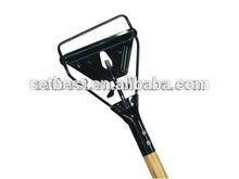 Wet Mop Handle, Stirrup, Hardwood with Steel Head, 60-inch C308