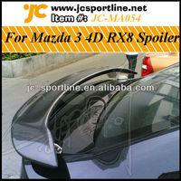 4D RX8 Carbon Fiber Rear Wing,Trunk Spoiler For Mazda 3