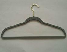 High Quality Steel Gray Velvet Hanger/Clothes Hanger
