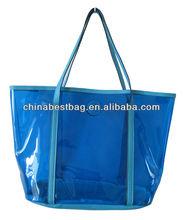 Friendly Bags PVC Beach Shopping Transparent Tote Bag Seashore Tote Shopping Shoulder Purse Promotional Beach Transparent Bag