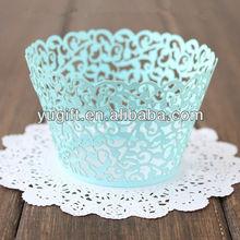 Hot seller !!! blue vine laser cut cupcake wrappers / wedding decoration