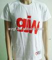 Custom Men de ropa O cuello de la camiseta de impresión de manga corta para blanco en blanco llanura de poliéster / algodón de la camiseta fabricación de China