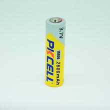 Pkcell al litio- ion 3.7v batteria ricaricabile ad alta capacità(18650)