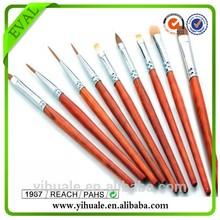 5 pcs Professional Kolinsky Wood Handle Nail Brush Pen