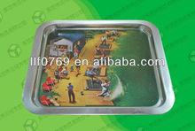 rectangular metal food/ fruit tray wholesale