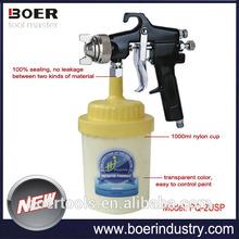 2014 New Model Spray Gun High Pressure Spray Gun with plastic cup PQ-2USP