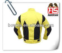 yellow customized racing motorcycle jacket ,jacket moto for sale
