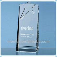 Fashion Crystal Plaque Trophy For Sales Achievement