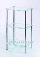 Glass Bathroom Corner Shelf