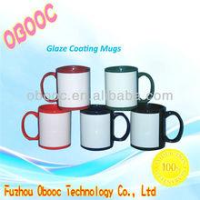 Hot Selling !11oz Color Glazed Sulimation Mug,Coating Mug ,Photo Mug
