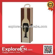 Hollow glasses shape wooden wine box