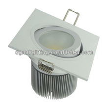 natural white dimmable led Square Downlight 9w/10w/12w/15w