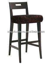 Dark brown solid wooden club night bar chair XYH1066