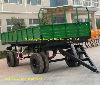 Heavy duty hydraulic 10 ton tractor farm trailer