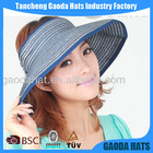Hot Selling Ladies Wide Brim Straw Visors