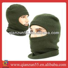 knit arcylic face warmer brown mask balaclava neck warmer hood ski climing bike cap hat motorcycle ski mask