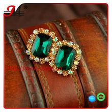 E1315 2013 trend beautiful gem CZ diamond stud jewelry earrings