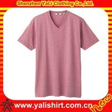 2015 new style plus size short sleeve cotton v-neck dry fit breathable men plain t-shirts