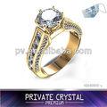 de oro anillos de compromiso de hecho con el chino 3a circón